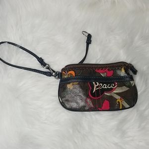 Sakroots dove and peace Wristlet excellent cond
